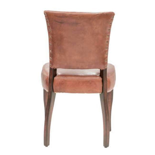 Dining Chairs Delia Aged Leather Dining Chair