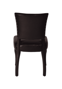 Dining Chairs Delia Aged Leather Dining Chair Worn Coal