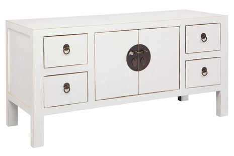 Albert Small White Entertainment Unit--VAVOOM