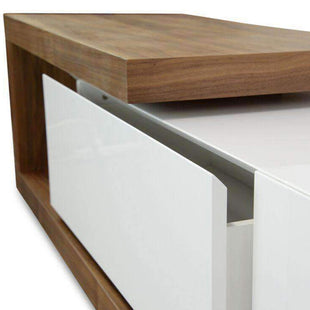 Entertainment Centers & TV Stands Scandinavian Entertainment Unit Walnut And White