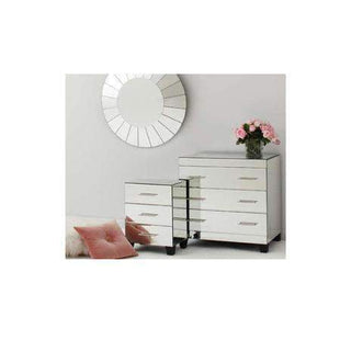 Furniture Isabelle Mirror Bedside Table - Small