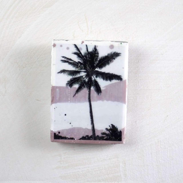 Ahoy Trader Exotica Blush Palm Mini Tile--VAVOOM