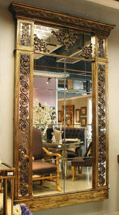 Homewares Designer Wall Mirror With Gold Surrounds