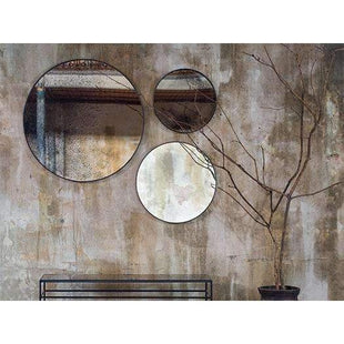 Homewares Notre Monde Round Heavy Aged Mirror Bronze - Medium