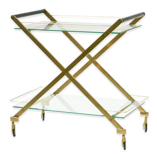 Brushed Gold Bar Cart--VAVOOM