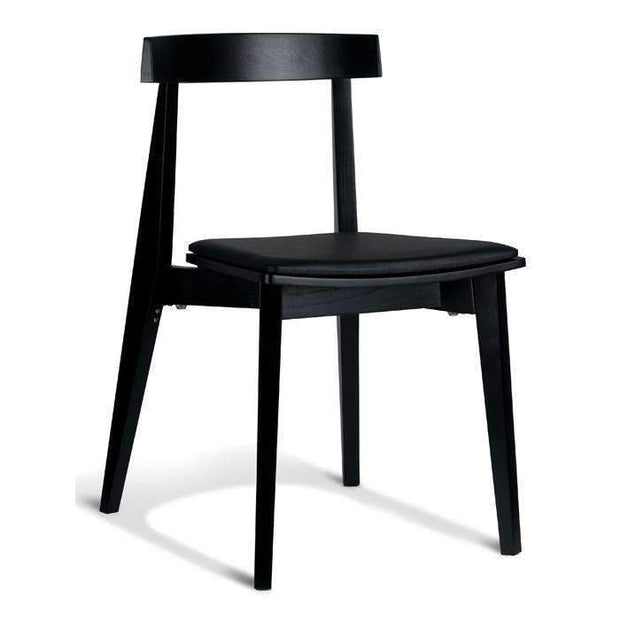 Kitchen & Dining Room Chairs Izumi Plus Chair Black Frame - With Black Cushion Seat