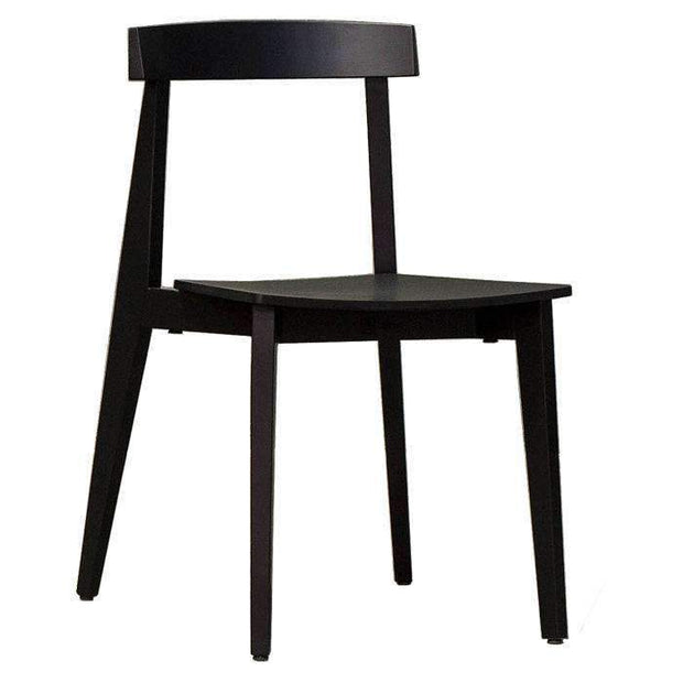 Kitchen & Dining Room Chairs Izumi Plus Chair Black Frame - With Timber Seat
