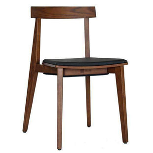 Kitchen & Dining Room Chairs Izumi Plus Chair Walnut Frame - With Black Cushion Seat