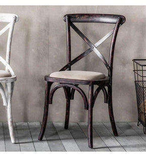 Kitchen & Dining Room Chairs La Milano Cross Back Dining Chair Black Set Of 2