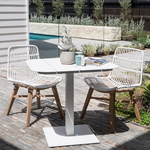 Lakes Indoor Outdoor Dining Chair White