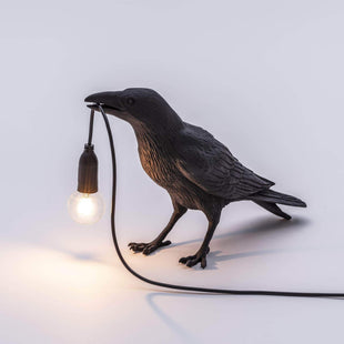 Lamps Indoor Bird Lamp Waiting Black