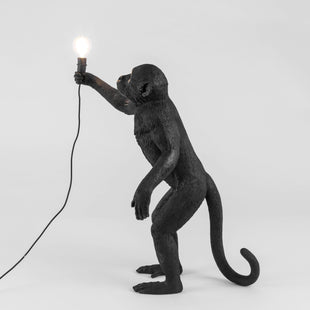 Lamps Monkey Lamp Standing Black