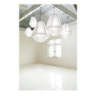 Lighting Fixtures Enoki Cumulus Pendant Lights Linen - Large