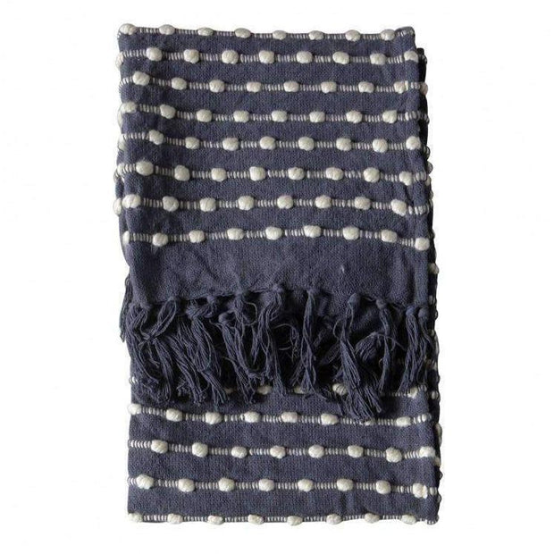 Linens & Bedding Maxil Loop Throw Black/Cream 130X170CM