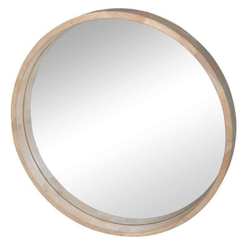 Cooper Round Mirror Rubber Wood 199 00 Vavoom