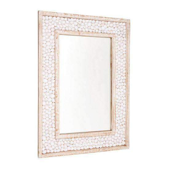 Shell Embossed Wall Mirror