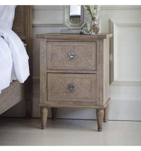 Chiara 2 Drawer Bedside Table--VAVOOM
