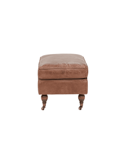 Ottomans and Footstools Diana P Leather Ottoman