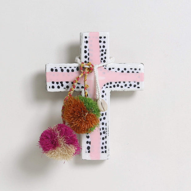Posters, Prints, & Visual Artwork Ahoy Trader Spot Pink Mini Cross