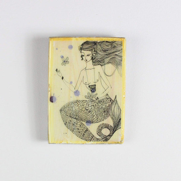 Posters, Prints, & Visual Artwork Ahoy Trader Yellow Sinking Flower Mini Tile