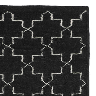 Rugs Morocco Black Floor Rug