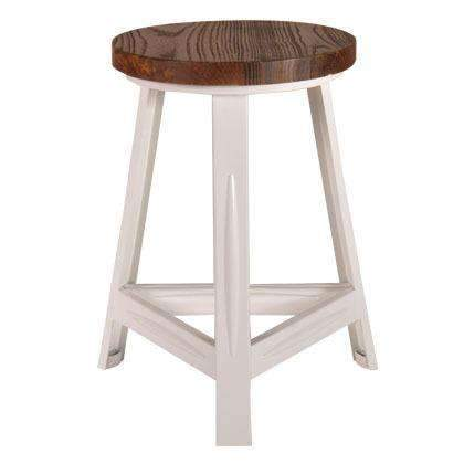 Search By Brand Rack Metal Accent Stool With Timber Top White