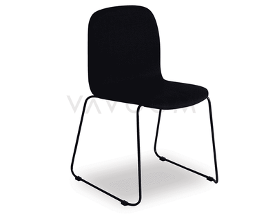 Shop By Room Flo Black Fabric Dining Chair