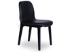 Shop By Room Max Scandinavian Timber Dining Chair - Black American Ash Frame & Luxurious Black Padded Seat
