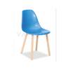 Shop By Room Natural Beechwood Legs Hudson Dining Chair Blue