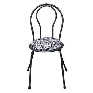 Shop By Room Parisien Dining Chair Black With Patterned Cushion