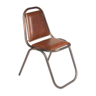 Shop By Room Retro Leather Dining Chair