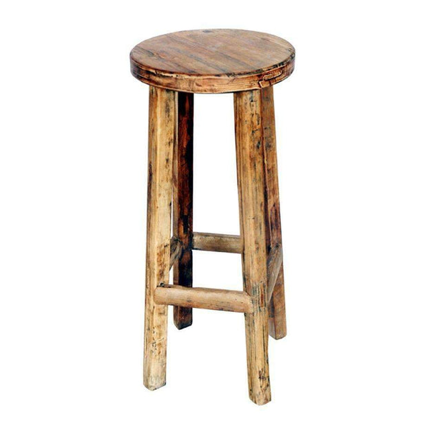 Shop By Room Rustic Timber Bar Stool Natural