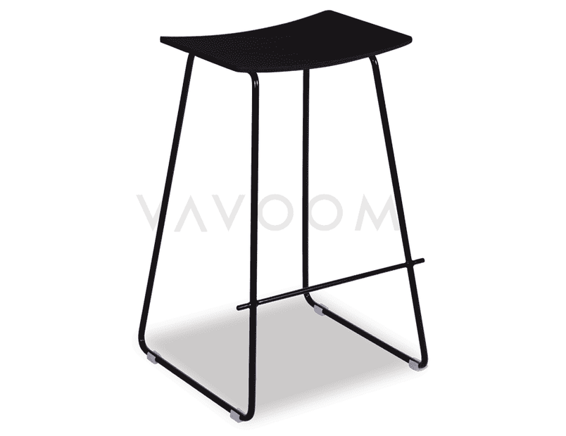 Shop By Room Yve Y Design Timber Kitchen Stool Replica - Black Frame / Black Seat