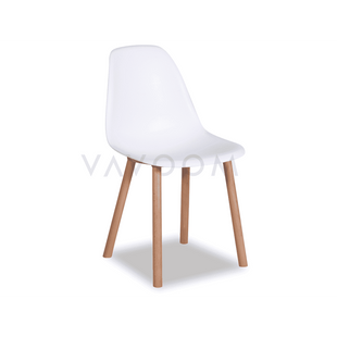 Shop By Style Natural Beechwood Legs Hudson Dining Chair White