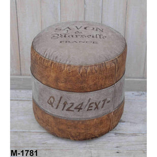 Shop By Style Savon France Round Hand Made Ottoman