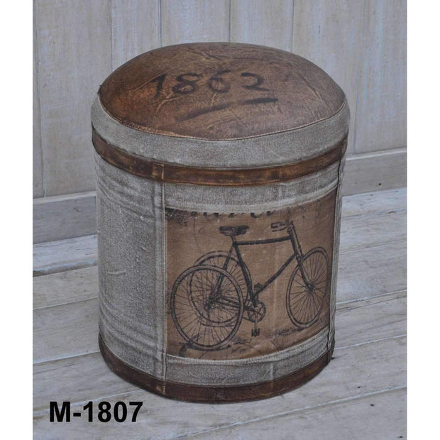 Shop By Style Vintage Bicycle Round Ottoman