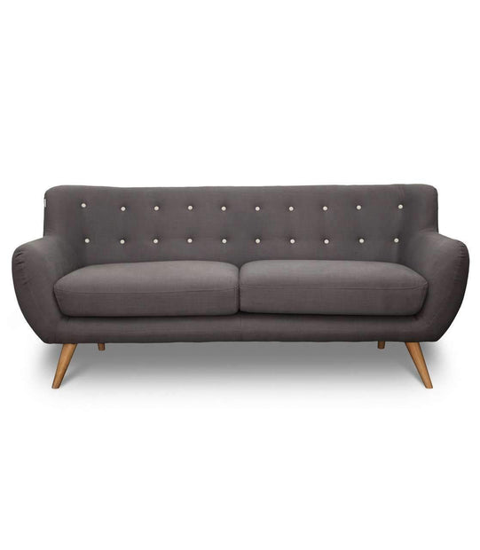 Sofas Pure Retro 3 Seat Sofa Grey