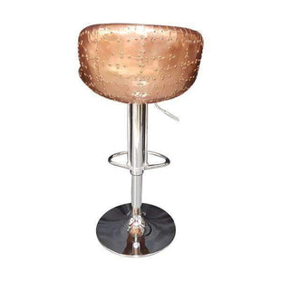Aviator Copper and Black Leather Bar Stool 2--VAVOOM