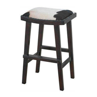 Stools and Bar Stools Black & White Venice Cowhide Kitchen Stool - Glamour