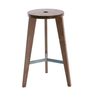 Stools and Bar Stools Dark Brown Ash Milka Bar Stool - Tall