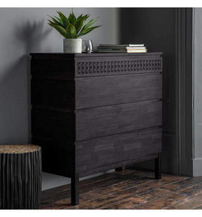 Storage Chests Solid Baha Boutique 4 Drawer Chest 100X46X104CM