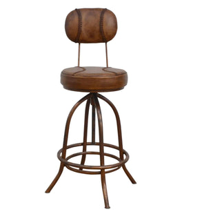 Table & Bar Stools Industrial Wind Up Bar Chair With Leather