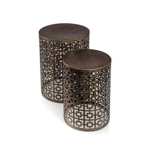 Temara Iron Stools - Set of 2