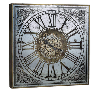 Wall Clocks Large Square Mirror Wall Clock With Moving 3D Mechanism