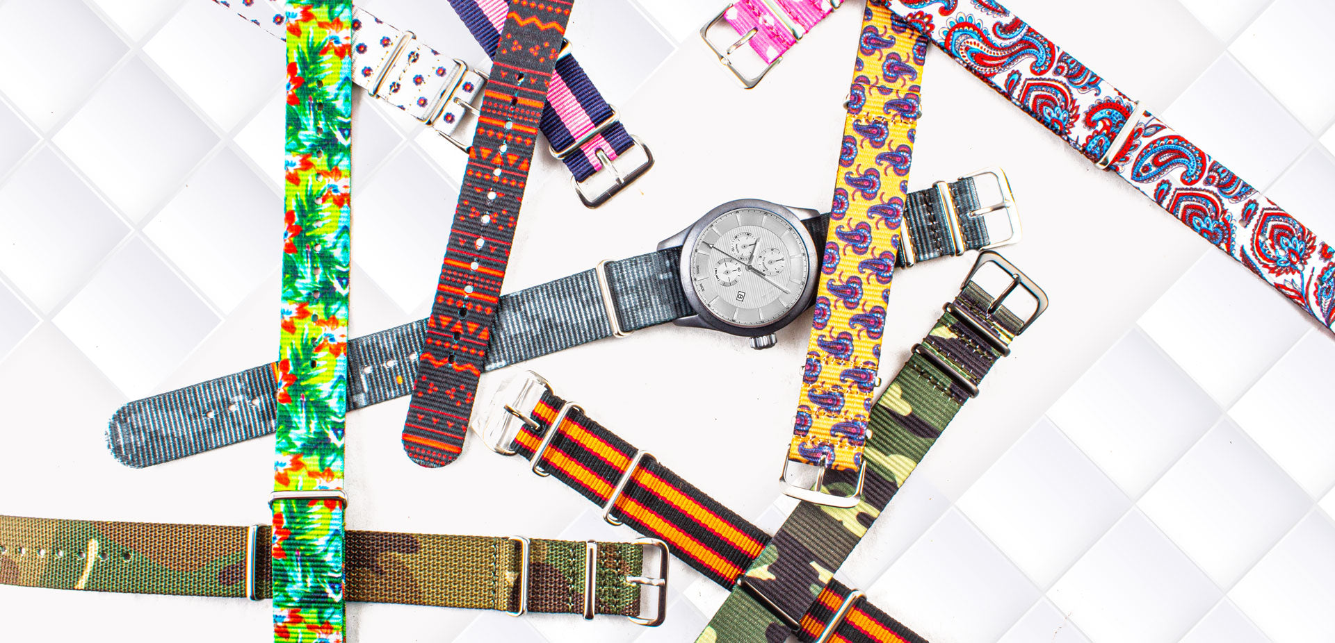 Nylon fabric watch bands & watch straps