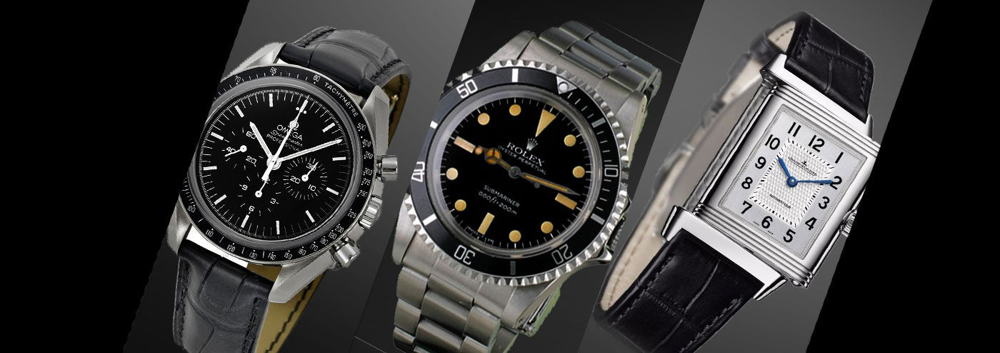 Luxury brands pre-owned watches - Rolex, Jaeger Lecoultre, Omega, Cartier...
