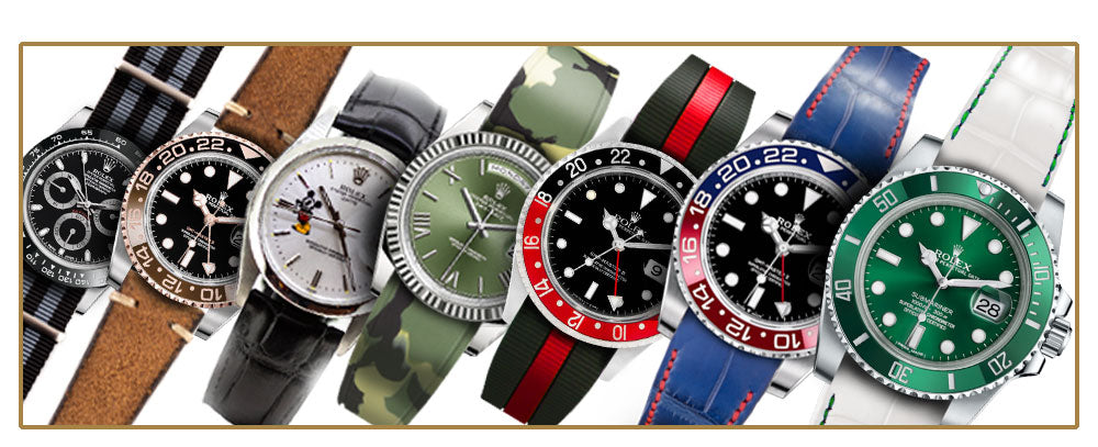 Watch bands and watch straps for Rolex watches