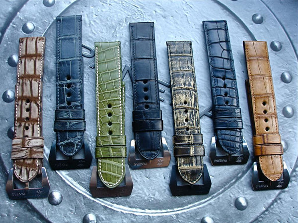 panerai luminor radiomir watch bands leather straps alligator crocodile bracelets montres