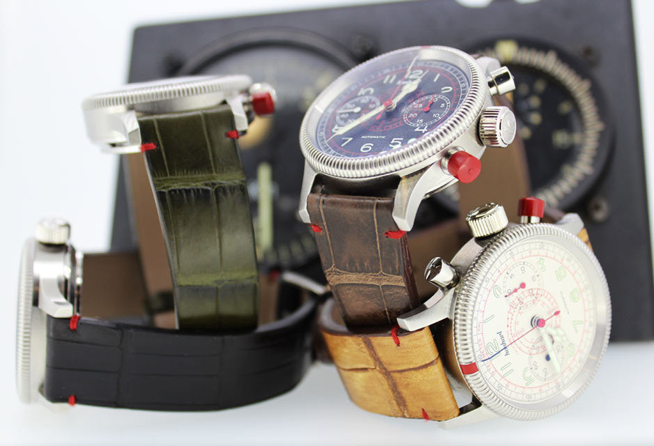 alligator watchbands and leather strap