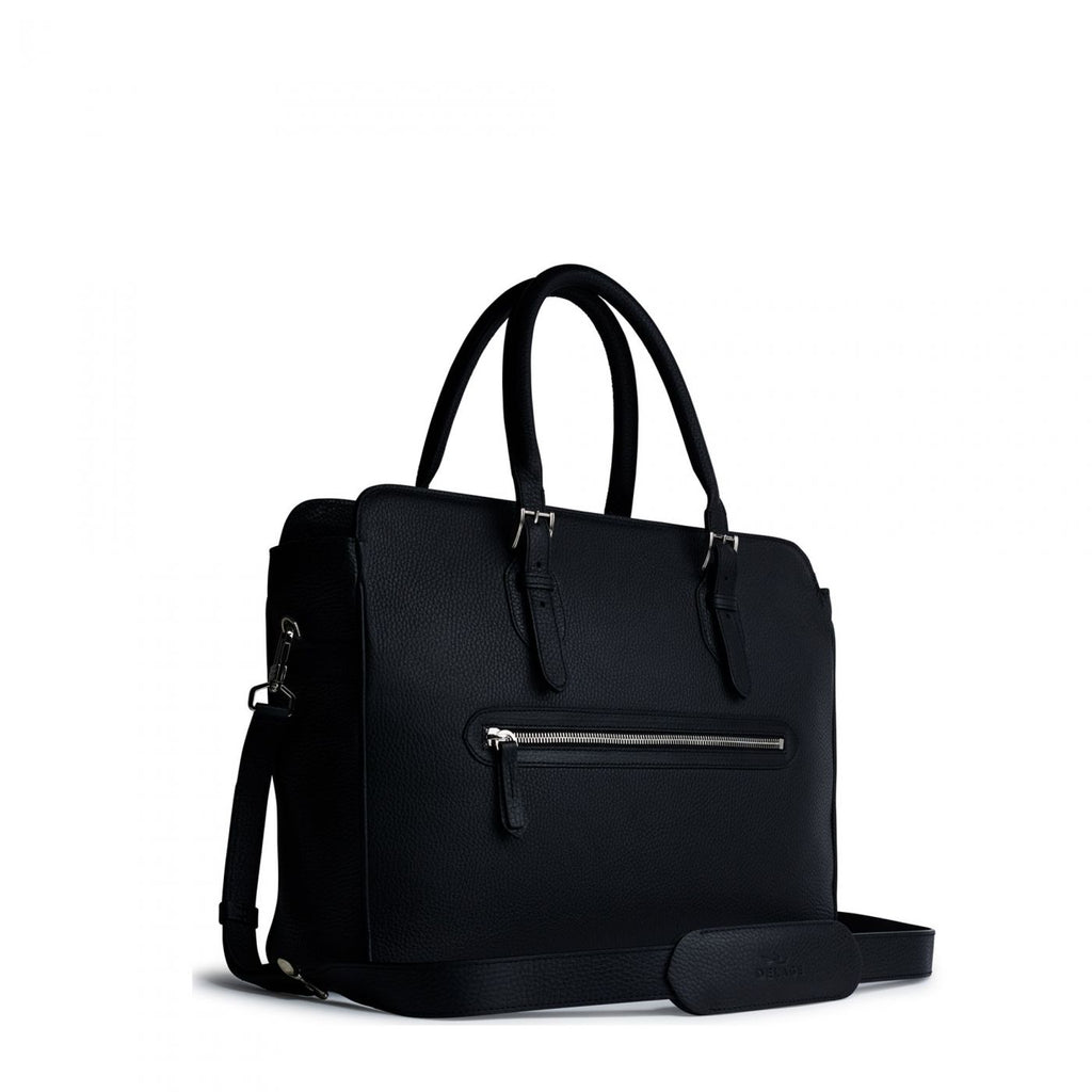 Delage - Porte documents Dandy MM cuir noir